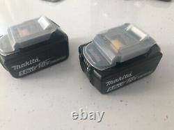 Two Genuine Makita 18V 5.0Ah Li-Ion LXT