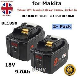 2x 18v 9.0ah Li-ion Pour Makita Bl1830 1840 1850 Lxt400 Avec Led Display