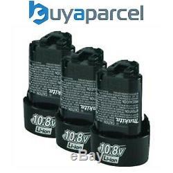 3 X Véritable Makita Bl1013 10.8v Lxt Lithium Ion Batterie Li-ion