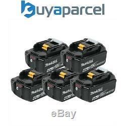 5 X Makita 18v 4.0ah Li-ion Lxt Batterie Bl1840 4ah 196399-0 Véritable Uk Stock