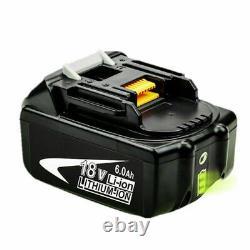 Batterie 4x 18v Bl1860 Pour Makita Lxt Li-ion 6.0ah Bl1860b Bl1850 Bl1840b Bl1830