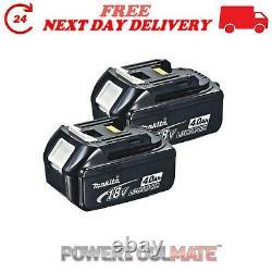 Jour Suivant Livraison Véritable Makita Bl1840 18v 4.0ah Lxt Li-ion Rechargeable Twin Pack