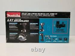 Makita 18v Lxt Bl Li-ion Sub-compact 4-tool Combo Kit (1.5 Ah) Cx401syb Nouveau