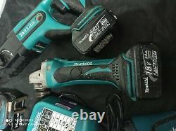 Makita 18v Lxt LI Ion 6 Outils Set 4 Batteries Et Chargeur