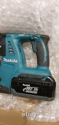 Makita Bhr262 Lxt Sans Fil 36v Li-ion Sds+ Rotative Hammer Drill 1x 2.6ah Batterie