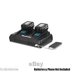 Makita Bl1830 18v Lxt Li-ion Batteries 3.0ah Jumeaux Avec Dc18rd Double Port Chargeur