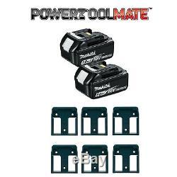Makita Bl1850 18v Lxt 5.0ah Batterie Li-ion Twin Pack Avec 6 Pack Porte-piles