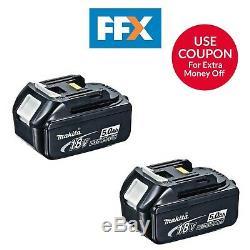 Makita Bl1850bx2 2 X 18v 5.0ah Lxt Li-ion Batterie Véritable Makstar Twin Pack