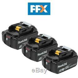 Makita Bl1860bx3 3 X 18v 6ah Lxt Li-ion Véritable Makstar Batterie