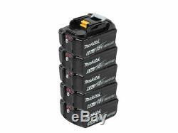 Makita Bl1860bx5 5 X 18v 6ah Lxt Li-ion Véritable Makstar Batterie