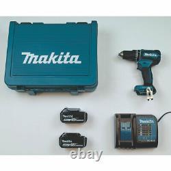 Makita Cordless Combi Drill Dhp485sme 18v Li-ion Lxt 2 X 4.0ah Avec Cas