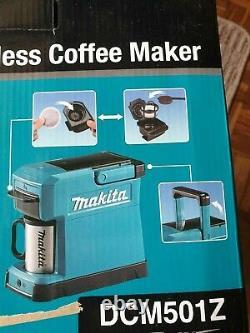 Makita Dcm501z 10.8-12v Cxt/14.4-18v Lxt Li-ion Cordless Coffee Maker Body Seulement