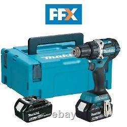 Makita Ddf484rtj 18v Compact Drill Driver Bl Lxt Kit 2 X 5.0ah Li-ion