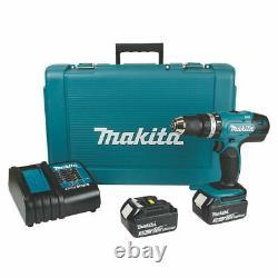 Makita Dhp453sfe 18v 3.0ah Li-ion Lxt Sans Fil De Forage Combiné