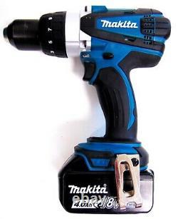 Makita Dhp458rmj De Lxt Sans Fil Combi Marteau 4.0ah Batteries Li-ion