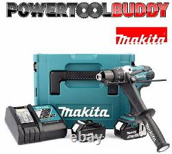 Makita Dhp458rtj 18v Lxt Li-ion Combi Drill Avec 2 X 5.0ah Batteries & Chargeur
