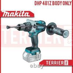 Makita Dhp481z 18v Sans Fil Li-ion Brushless Combi Hammer Drill Lxt Body Only