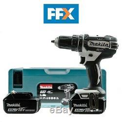 Makita Dhp482rfwj 18v Li-ion Lxt Drill Combi Avec 2 X 3ah + Makpac Case Sans Fil