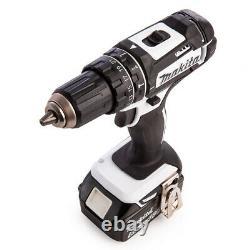 Makita Dhp482rtwj 18v Lxt Lxt Li-ion Combi Drill Avec 2 X 5.0ah Batteries & Chargeur