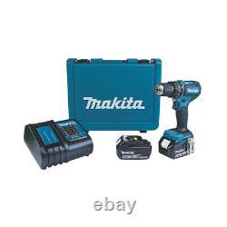 Makita Dhp485sfe 18v 3.0ah Li-ion Lxt Sans Brosse Sans Fil Combi Drill