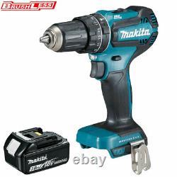 Makita Dhp485z 18v Lxt Li-ion Brushless Combi Drill Avec 1 X 3ah Bl1830 Batterie