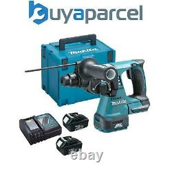 Makita Dhr242rfe 18v Lxt Li-ion 3 Mode Sds Rotatif Hammer Drill 2x3.0ah + Chargeur