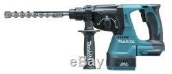 Makita Dhr242rmj De Lxt Li-ion 3 Mode Sds Rotary Hammer Drill, 2x4.0ah + Chargeur