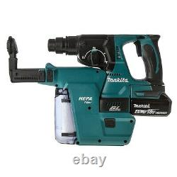 Makita Dhr242rtj 18v Lxt Li-ion 3 Mode Sds Rotatif Hammer Drill 2 X 5.0ah