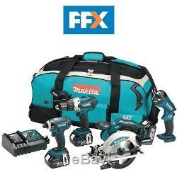 Makita Dk18034x1 18v Lxt 4 Pièces D'outils Sans Fil Kit 4 X 3,0 Ah Li-ion