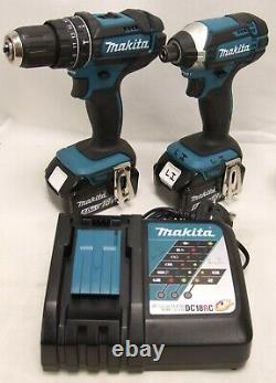 Makita Dlx2131tj 18v Li-ion Lxt Combi & Impact Twin Pack Avec 2 Piles 5ah
