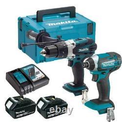 Makita Dlx2145fj Cordless Twin Pack 18v Li-ion Lxt Combi Drill & Impact Driver