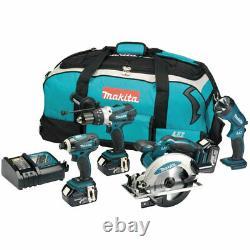 Makita Dlx4002 18v Cordless Li-ion 4 Piece Kit 3 X 3.0ah Batteries & Charger Bag