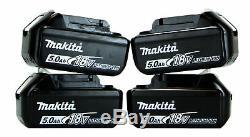 Makita Dlxffx9pc De 4x5.0ah Lxt Li-ion 9pc Kit Power Tool