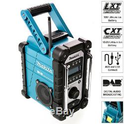 Makita Dmr109 De Lxt / 10.8v Cxt Li-ion Sans Fil Bleu Numérique Dab Job Site Radio