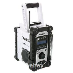 Makita Dmr109w 10,8v/18v Lxt/cxt Li-ion Site D'emploi Radio Corps Blanc Seulement