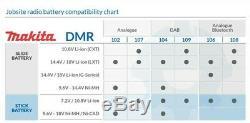 Makita Dmr109w Dab Lxt Cxt 10.8v 18v Blanc Li-ion Emploi Site Radio + 18v Batterie
