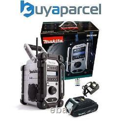 Makita Dmr109w Dab Lxt Cxt 10.8v 18v White Li-ion Job Site Radio +18v Batterie