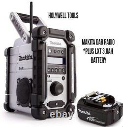 Makita Dmr109w Dab Lxt Cxt 10.8v 18v White Li-ion Job Site Radio + Batterie 18v