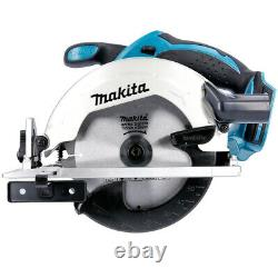Makita Dss611z 18v Li-ion Lxt Scie Circulaire + 1.5mm 5 Extra 48 Dents Lames De Bois