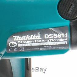 Makita Dss611z 18v Li-ion Sans Fil Lxt 165mm Circulaire Corps Scie Seulement