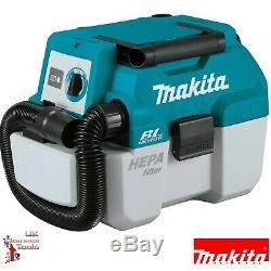 Makita Dvc750lz 18v Li-ion Lxt Brushless 7.5l L-classe Humide / Sec Aspirateur