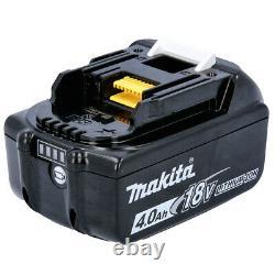 Makita Genuine Bl1840 18v 4.0ah Lxt Li-ion Batterie Avec Pack Star De 2