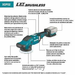 Makita Xop02t 18v Lxt Liion Sans Fil 5 & 6 Dual Action Random Polisher Kit