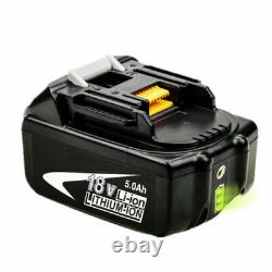 Pour La Batterie Li-ion Makita Bl1850b 18v 5.0ah Lxt 196673-6 Bl1860 Bl1830 Sans Fil