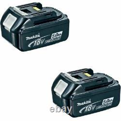 Véritable Makita Bl1850 18 Volt 18v 5.0 Amp 5ah Lithium Li-ion Lxt Batterie Pack X2