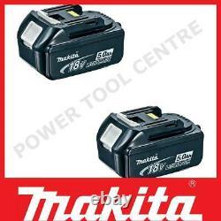 Véritable Makita Bl1850 Pack De Deux 18 Volts 5.0ah Lxt Li-ion Slide Battery Pack
