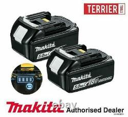 Véritable Makita Bl1850 Twin Pack 18v 5.0ah Lxt Li-ion Avec Une Étoile