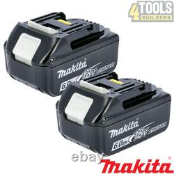 Véritable Makita Bl1860 Twin Pack 18v 6.0ah Lxt Li-ion Batterie Avec Étoile
